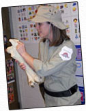 Miss Annie dressed as a paleontologist